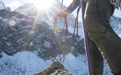 Les cordes pour l'escalade et l'alpinisme
